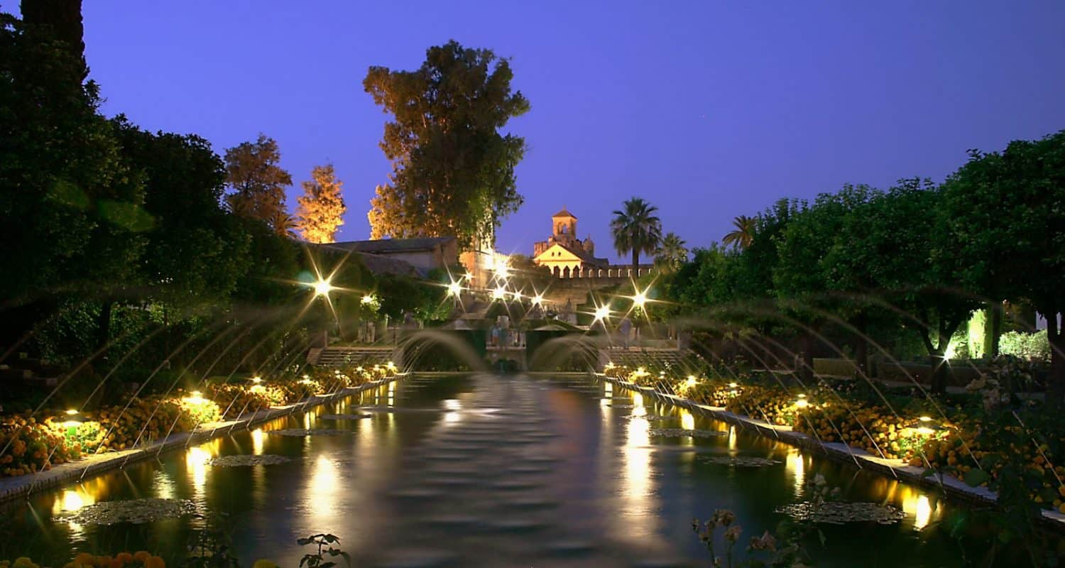 alcazar at night