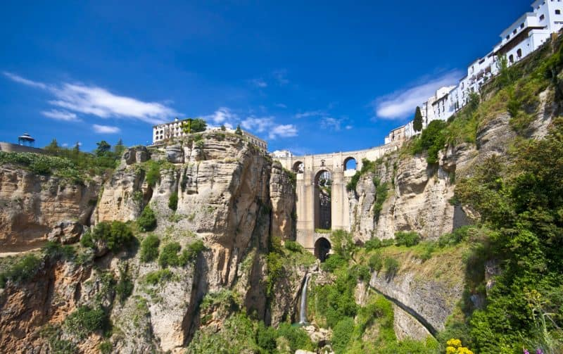 view of ronda and gorge spain