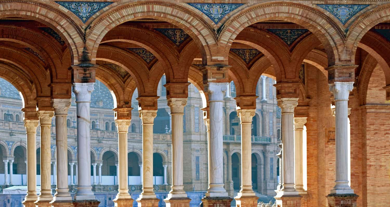 plaza de espana seville arches