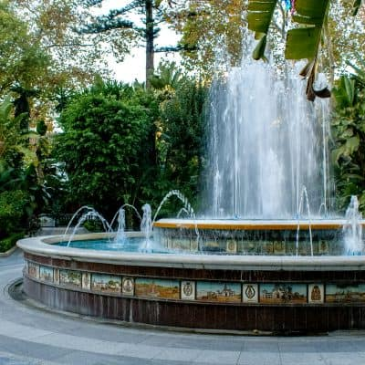 fountain in park in marbella spain