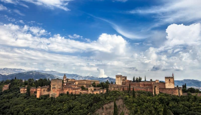 view of the alhambra in the day