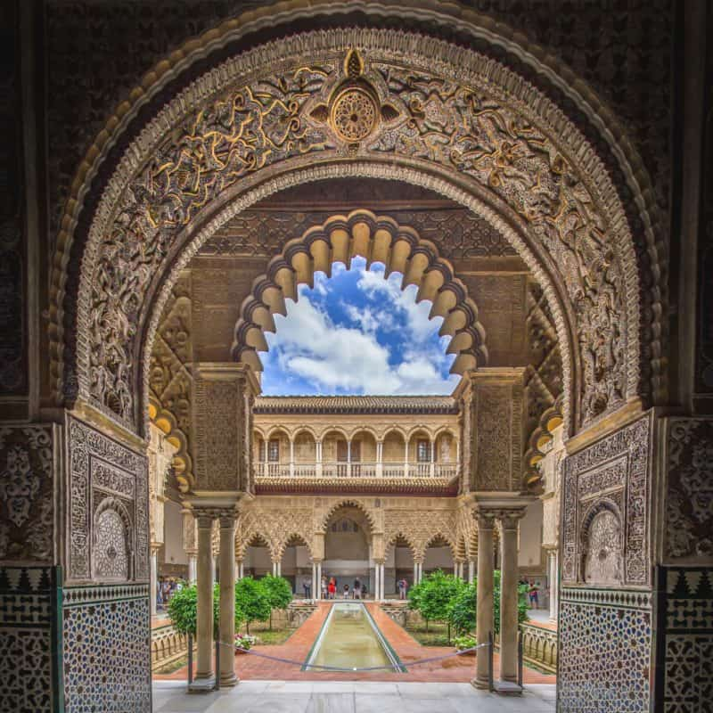 alcazar in seville spain