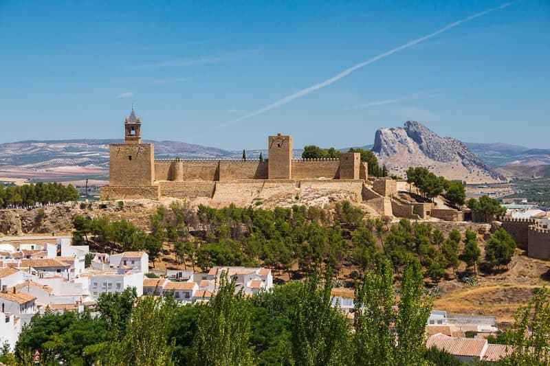 View of Antequera and fortress