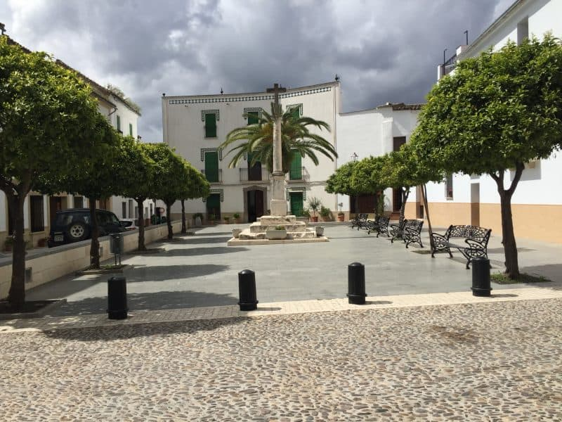 Main square in Spanish town