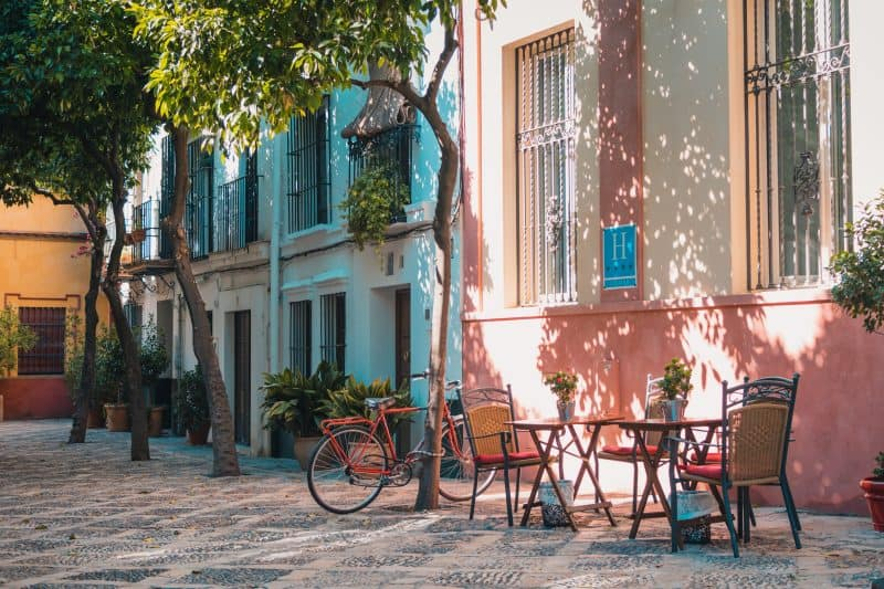 Tables on the Street in Seville