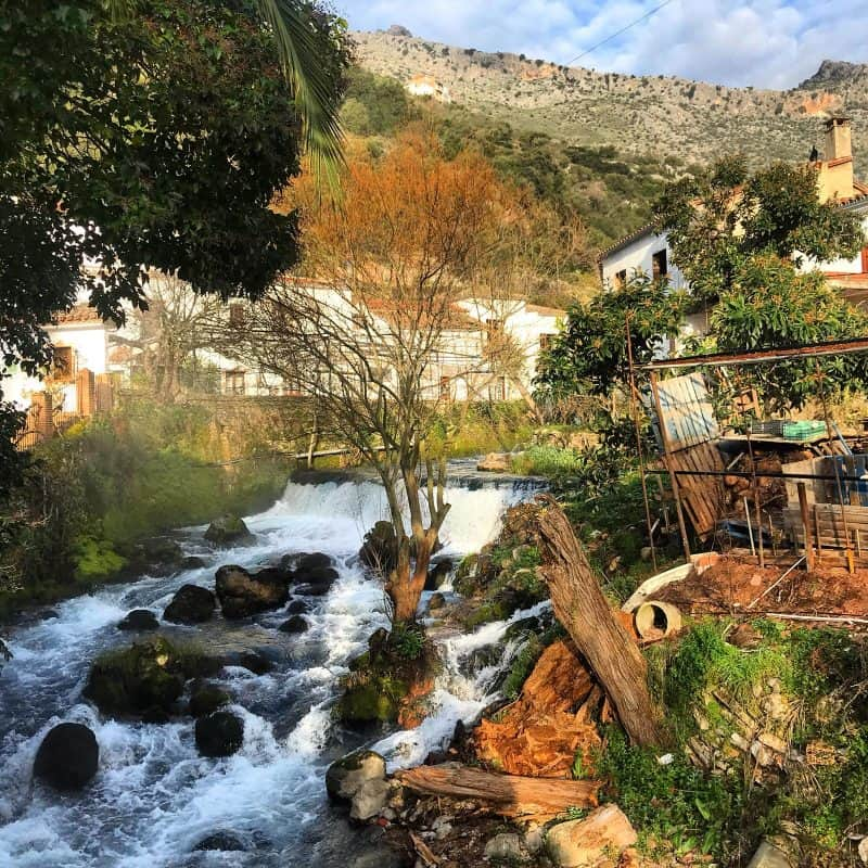 countryside and stream in Spain