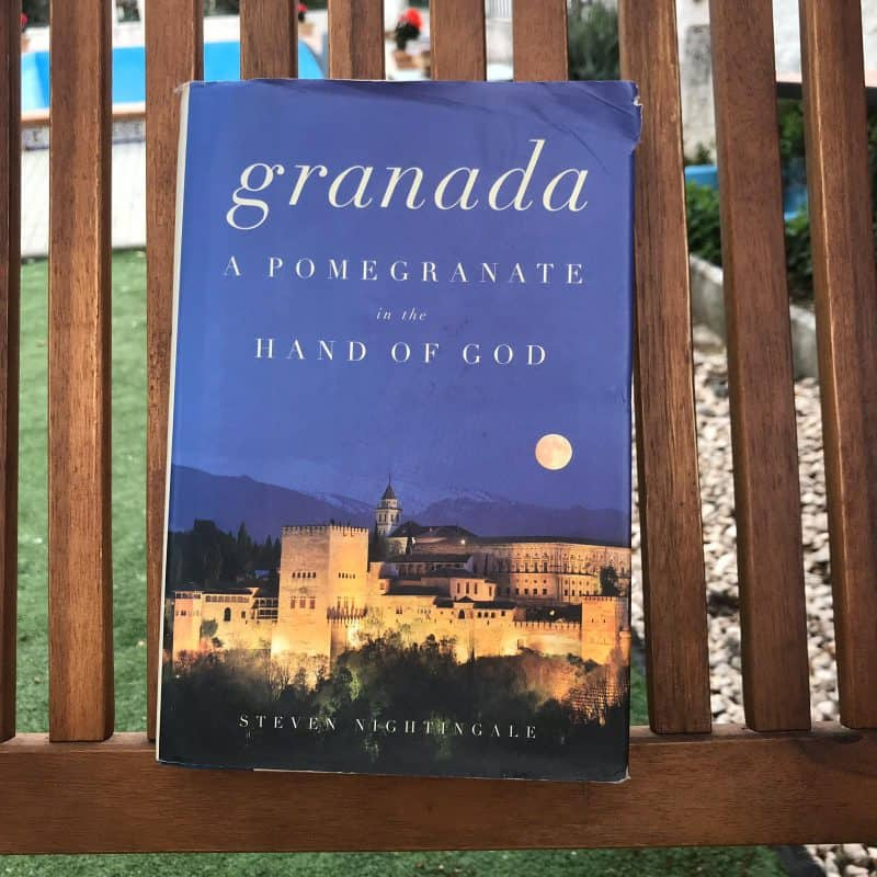 Book about Granada on bench