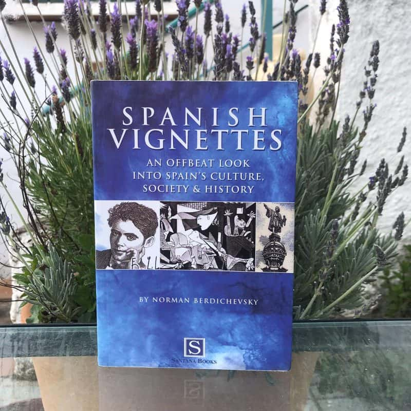Spansih Vignettes book and flowers