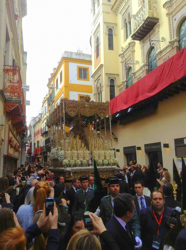 Visiting the Easter procession in Seville