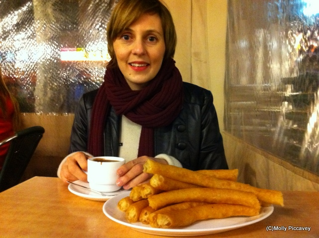 churros and chocolate in Granada